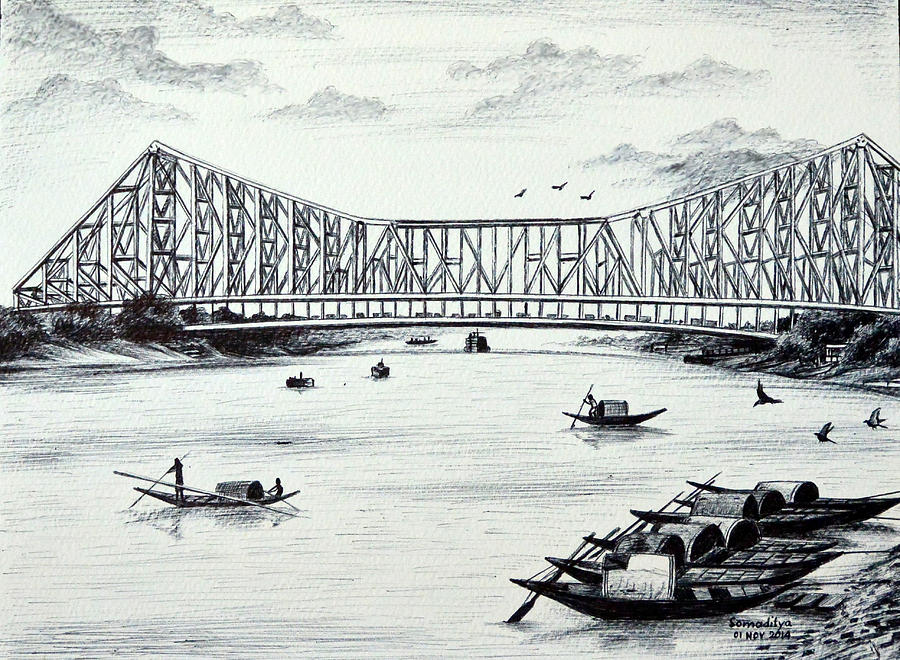 Pencil Sketches Of Kolkata