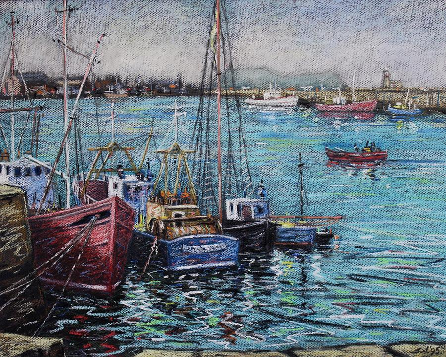 Pastel Pastel - Howth Harbour  Dublin by John  Nolan