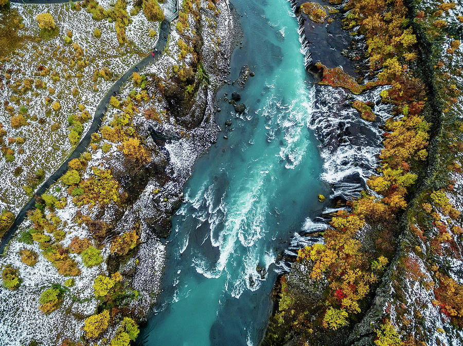 Hraunfossar, Waterfall, Iceland Photograph by Arctic-images