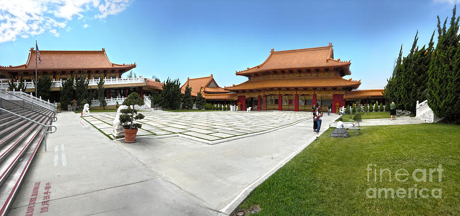 Hsi Lai Temple Photograph - Hsi Lai Temple - 08 by Gregory Dyer