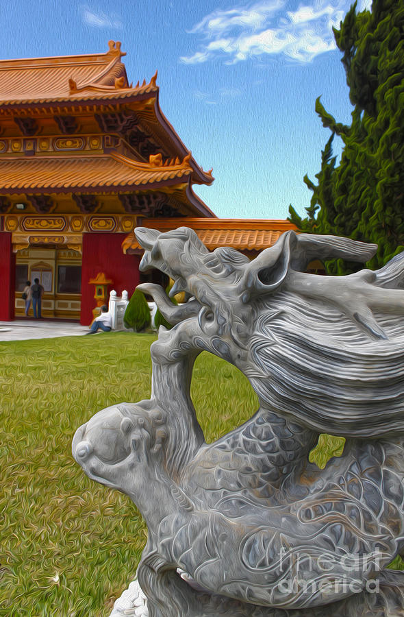 Hsi Lai Temple Painting - Hsi Lai Temple - 03 by Gregory Dyer