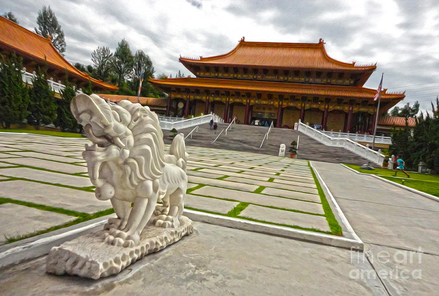 Hsi Lai Temple Painting - Hsi Lai Temple - 05 by Gregory Dyer