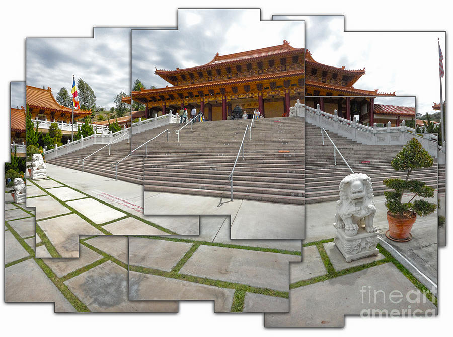 Painting - Hsi Lai Temple - 06 by Gregory Dyer