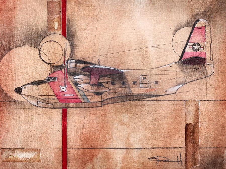 Aviation Painting - Hu 16 Albatross by Sean Parnell