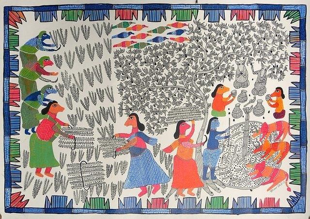 Gond Art Painting - Hu 42 by Heeraman Urveti