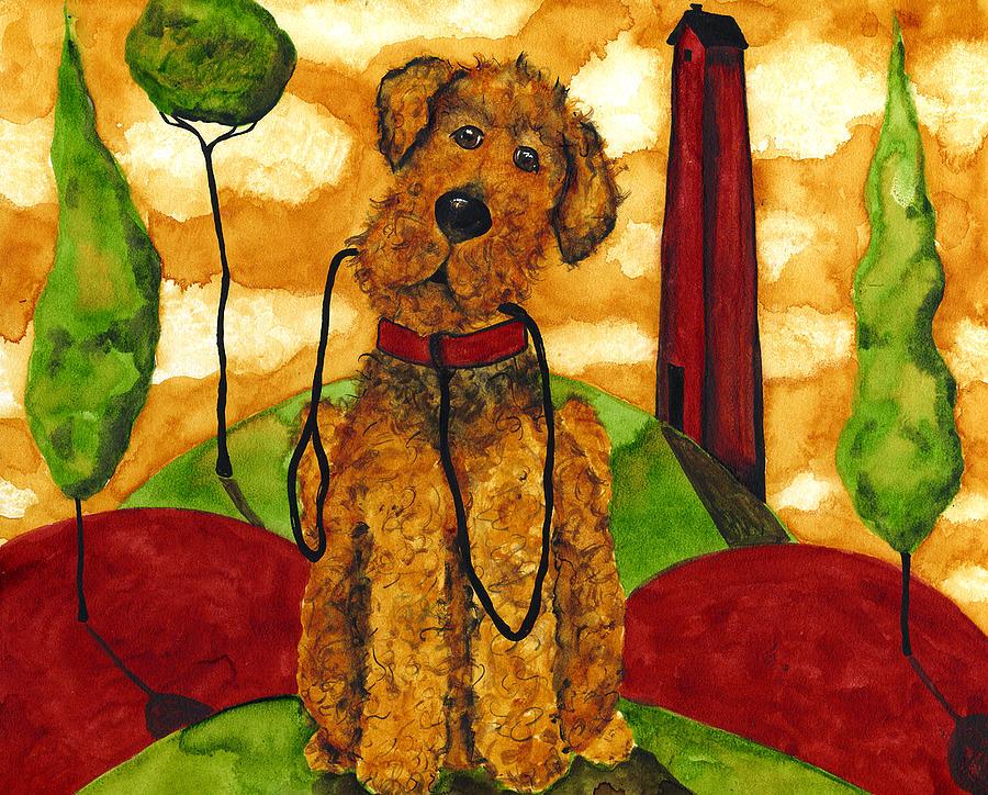 Funny Folk Art Dog Paintings