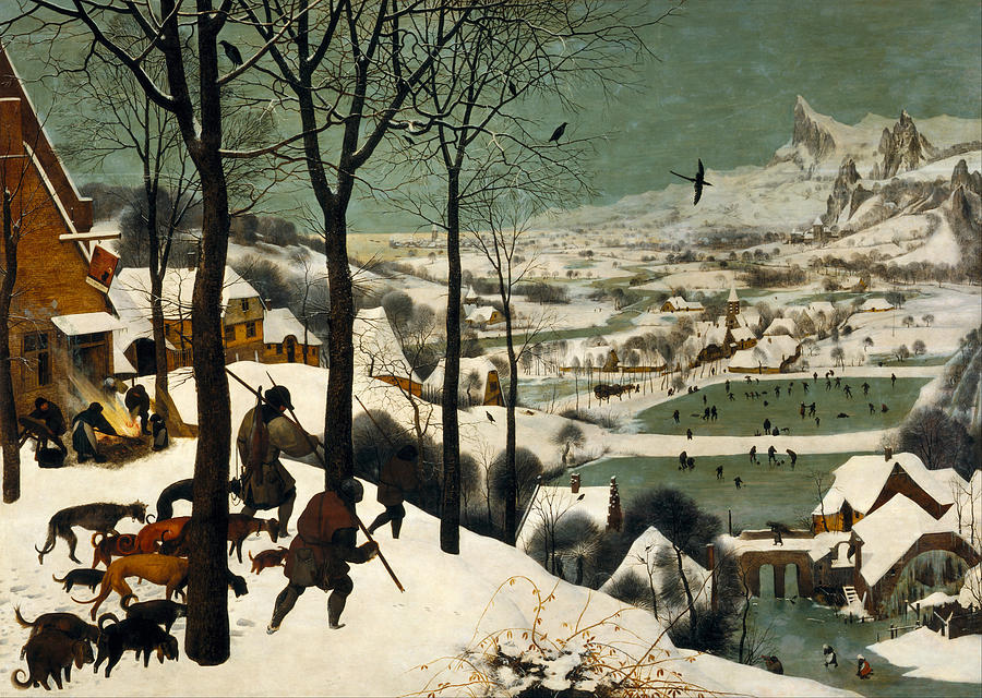 Hunters In The Snow Painting - Hunters On The Snow by Pieter Bruegel the Elder