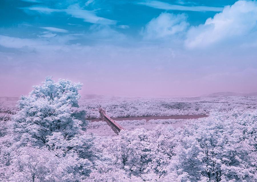 Infrared Photograph - Hudson Valley Landscape by Ernest Puglisi