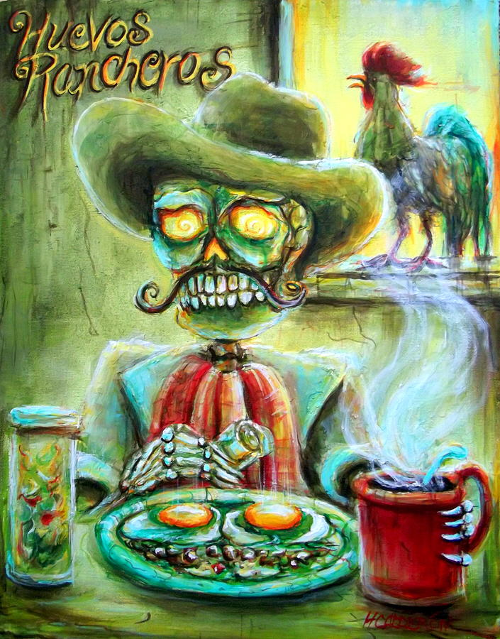 Day Of The Dead Painting - Huevos Rancheros by Heather Calderon