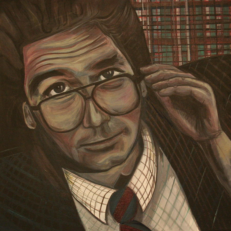 Huey Lewis Painting - Huey Lewis says Its Hip to Be Square by Kate Fortin