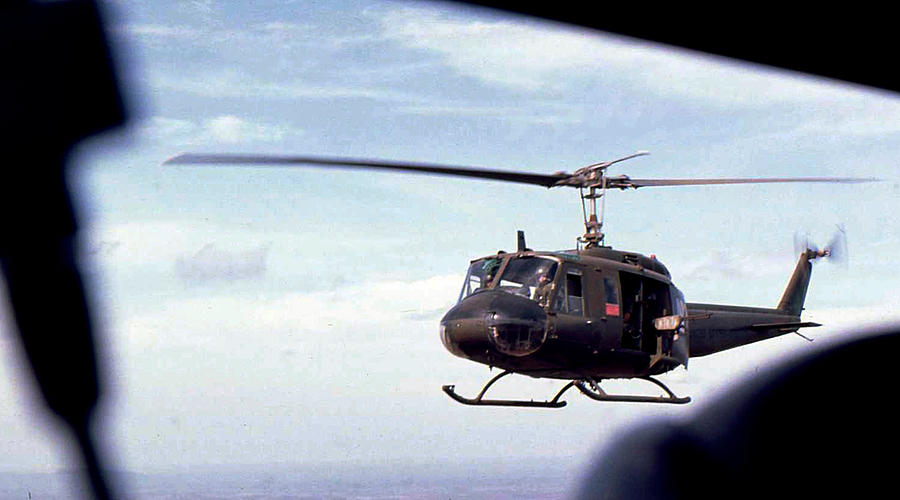 Uh-1 Helicopter Photograph - Huey Transport by Norman Johnson