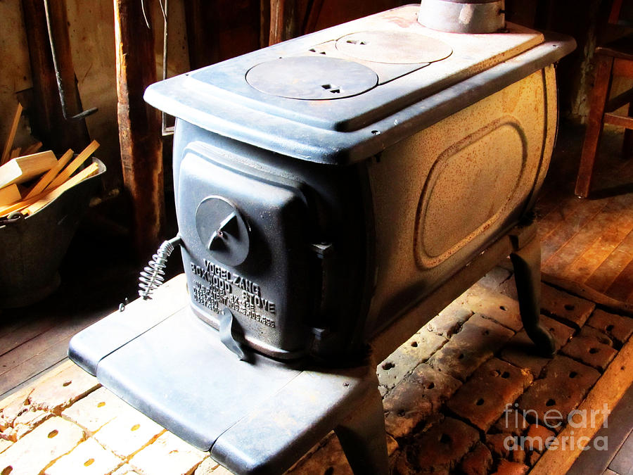 Bristol Photograph - Huge Antique Wood Stove by Tina M Wenger