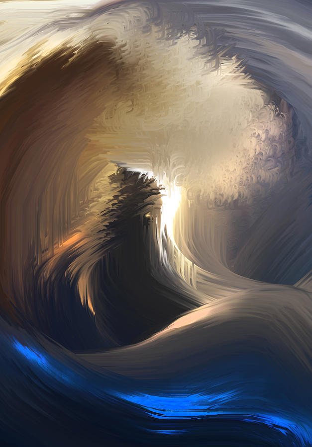 Huge Wave Painting - Huge Wave by Ron Cantrell