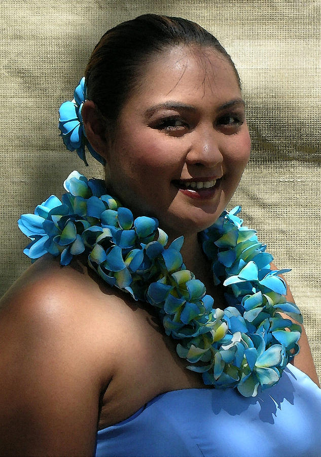 James Temple Photograph - Hula Blue by James Temple