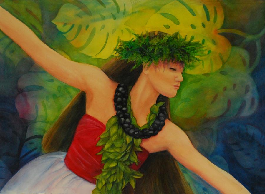 Tropicals Painting - Hulakahiko by Luane Penarosa