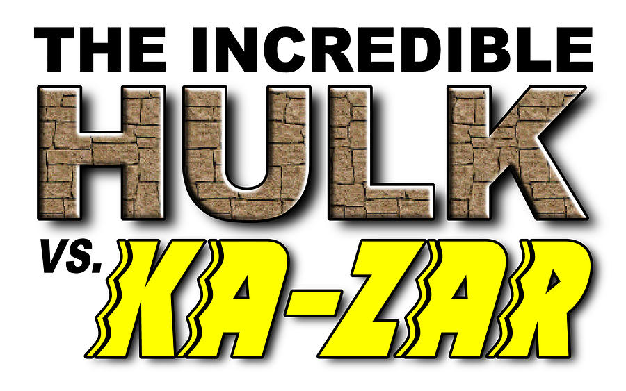 Font Digital Art - Hulk Vs. Ka-zar by Clif Jackson