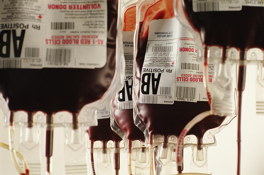 Human Blood Transfusion In Boston Photograph by Steve Dunwell