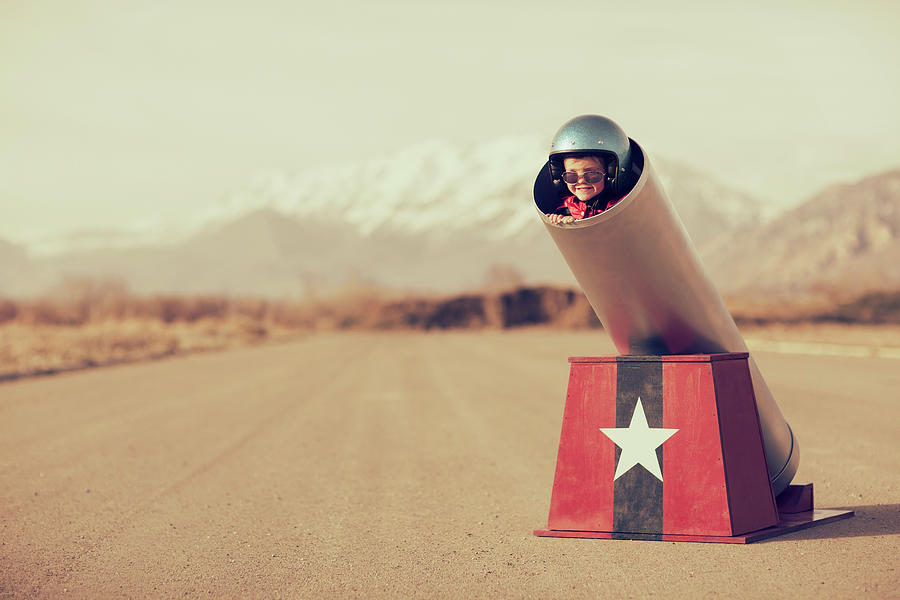 Human Cannonball Photograph by Richvintage