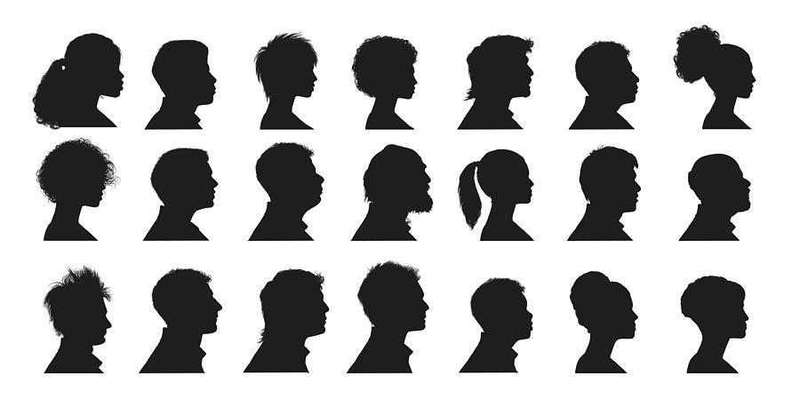Human Faces Drawing by Vectorig