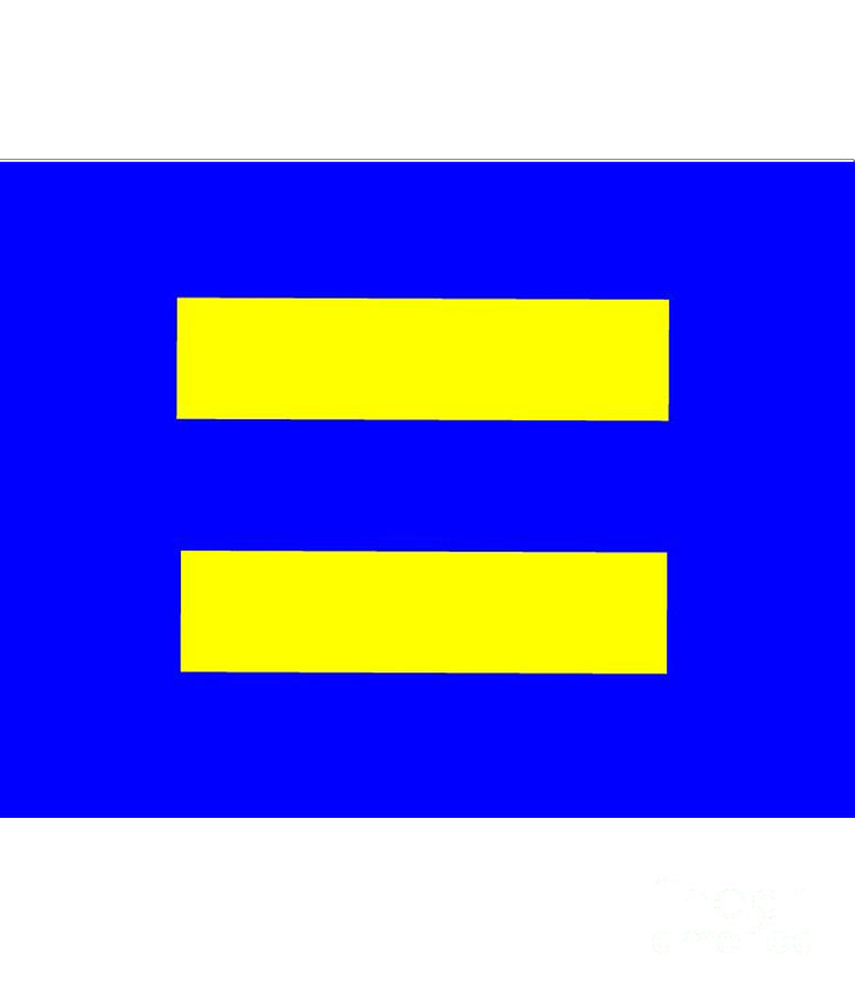 Human Digital Art - Human Rights Equality Flag by Frederick Holiday