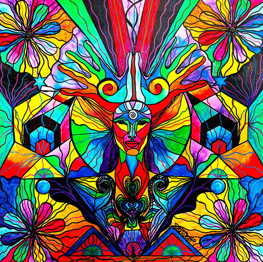 Vibration Painting - Human Self Awareness by Teal Eye  Print Store