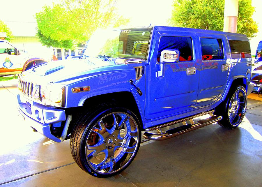 hummer too blue photograph by don struke