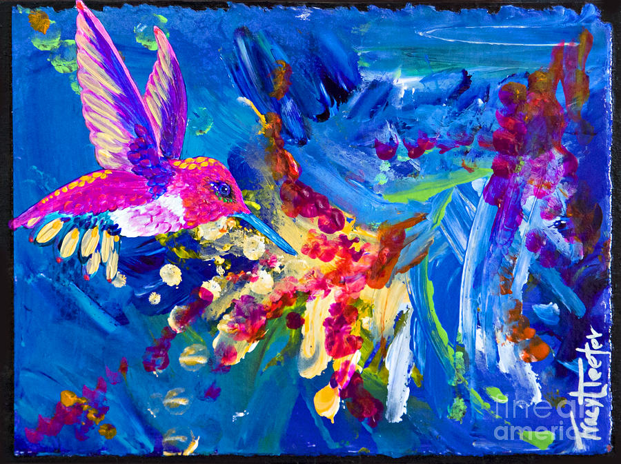 Hummer Painting - Hummers Explosion by Tracy L Teeter