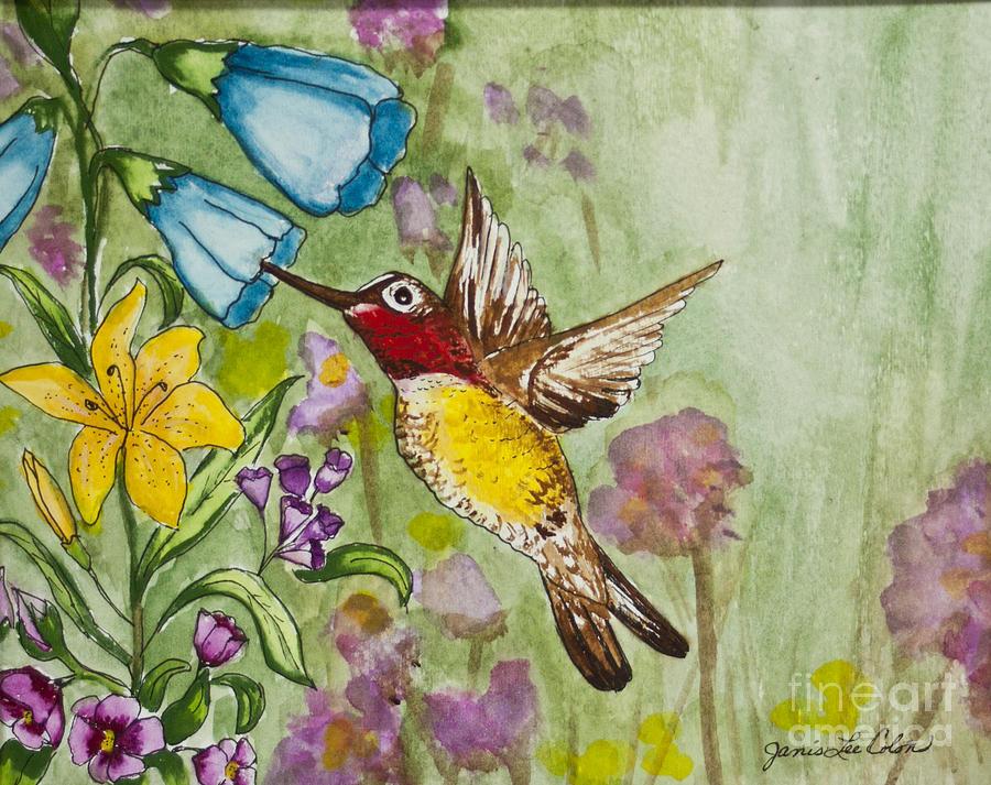 Humming Bird Painting - Humming Bird by Janis Lee Colon