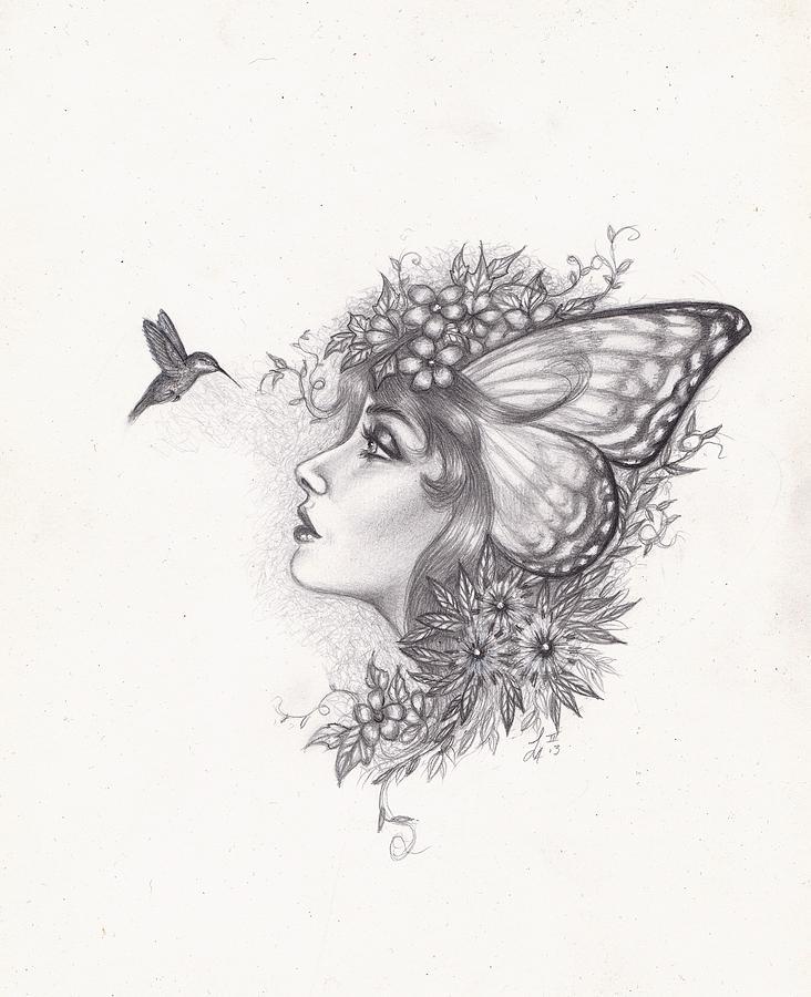 Hummingbird Faerie Drawing By Leon Atkinson