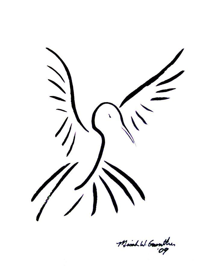 Bird Drawing - Hummingbird by Micah Guenther