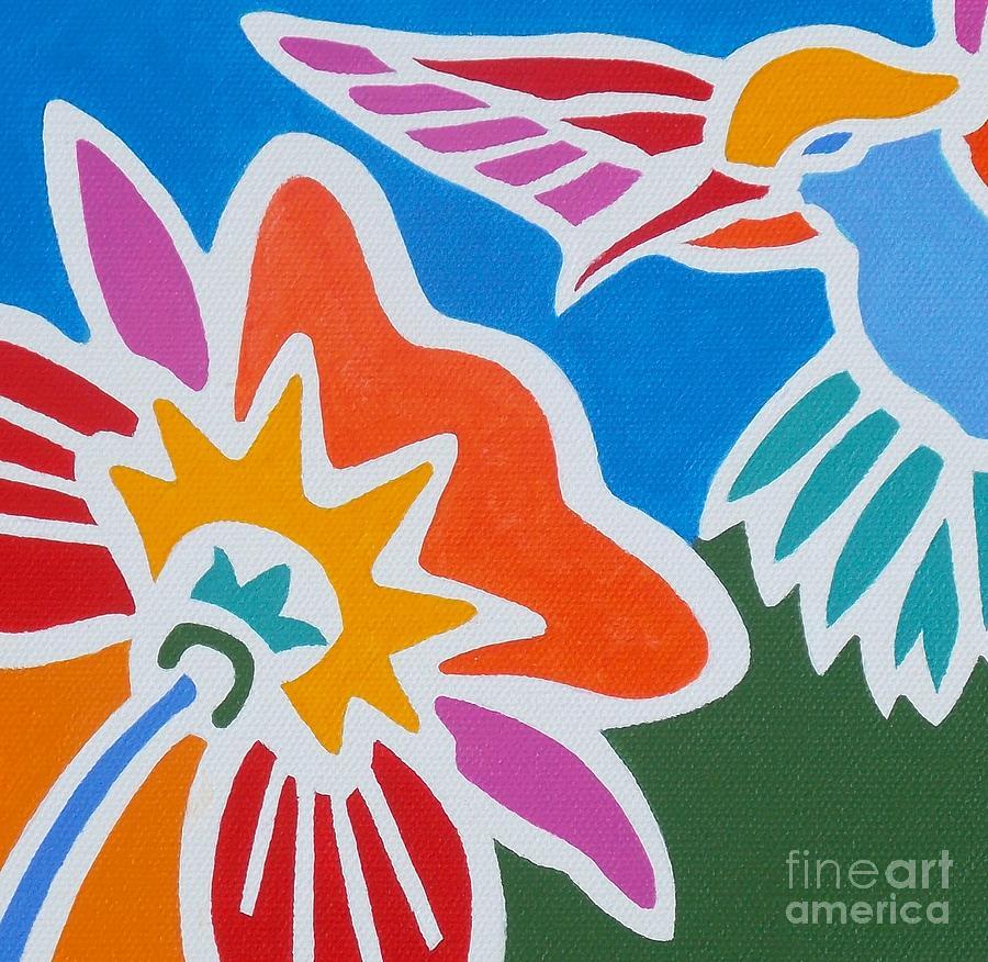Hummingbirds Painting - Hummingbird Number One by Stephen Davis