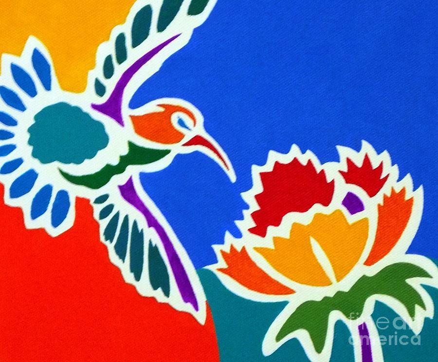 Hummingbirds Painting - Hummingbird Number Two by Stephen Davis