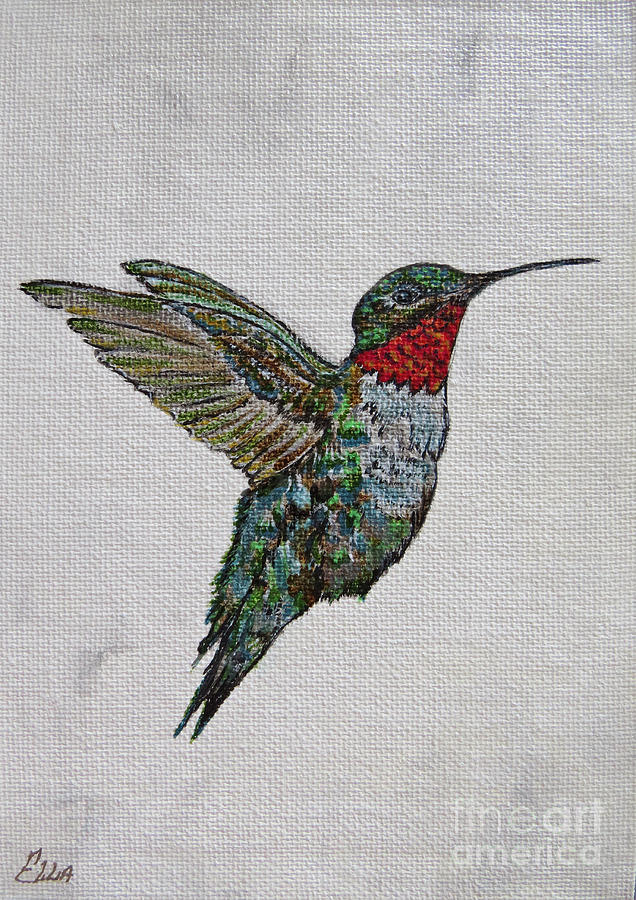 Hummingbird Painting - Flying Solo Painting