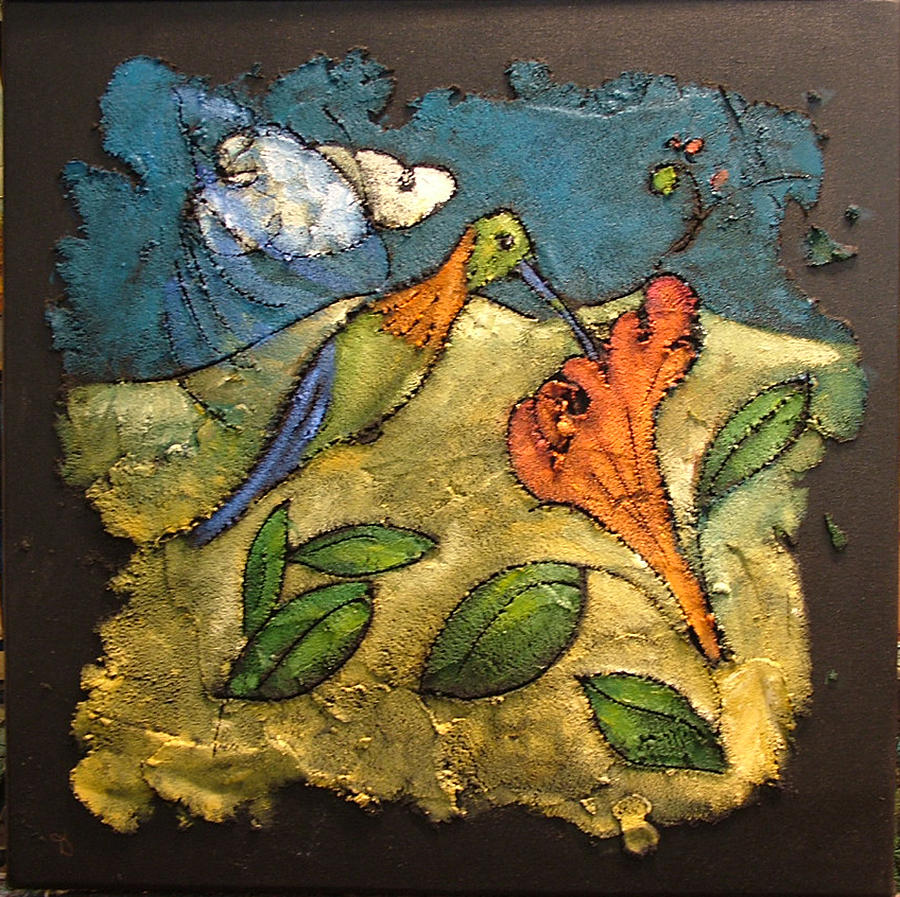 Hummingbird Painting - Hummingbird by Ross Drago