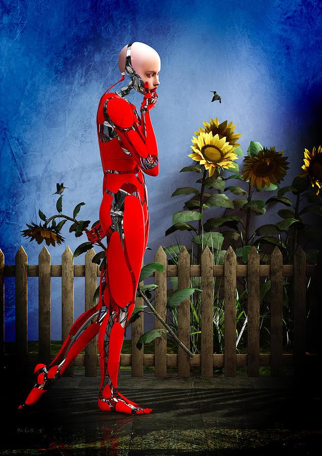 Robot Digital Art - Hummingbirds by Bob Orsillo