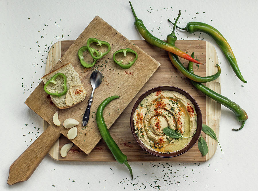 Still Life Photograph - Hummus by Dimitar Lazarov -