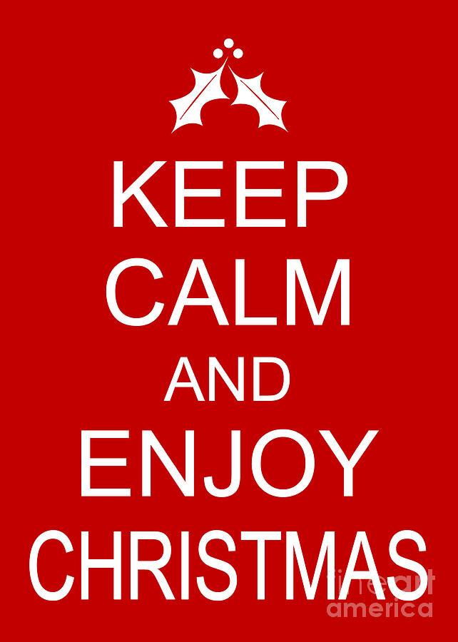 Humorous Christmas Card - Keep Calm And Enjoy Christmas Digital Art ...
