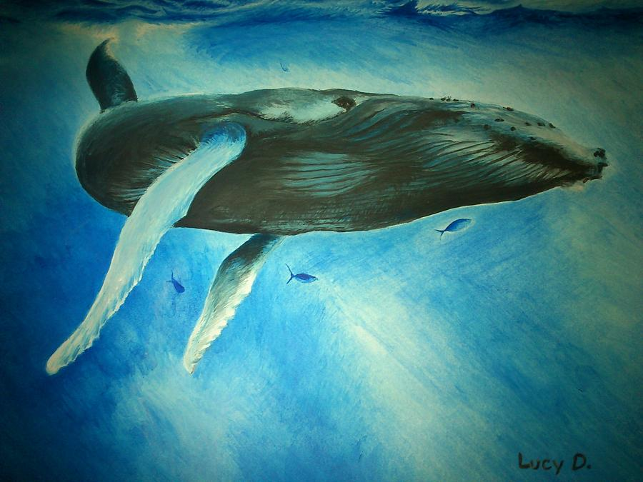 Nature Painting - Humpback Whale by Lucy D