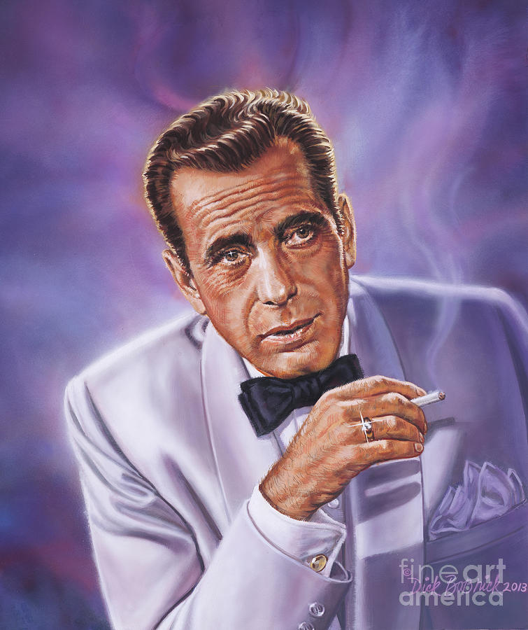 Humphrey Bogart Painting By Dick Bobnick
