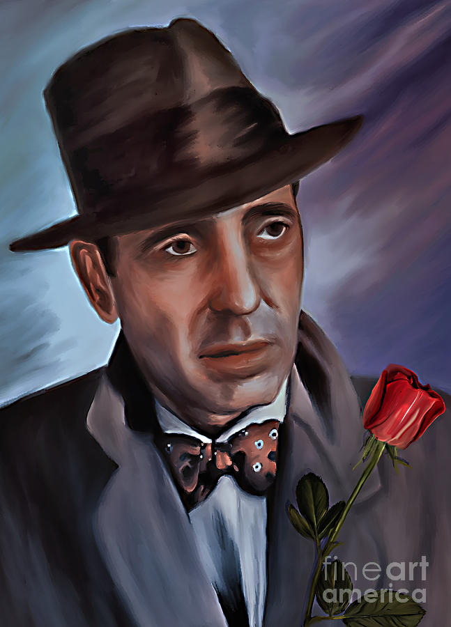 Vintage Painting - Humphrey Deforest Bogart by Andrzej Szczerski