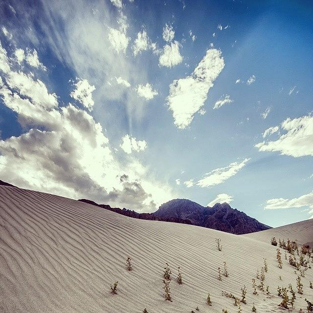 Patterns Photograph - Sand and clouds by Hitendra SINKAR