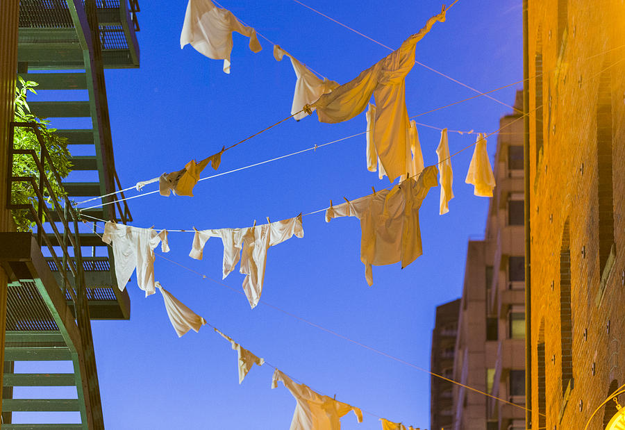 Hanging Laundry Photograph - Hung Out To Dry 2 by Scott Campbell