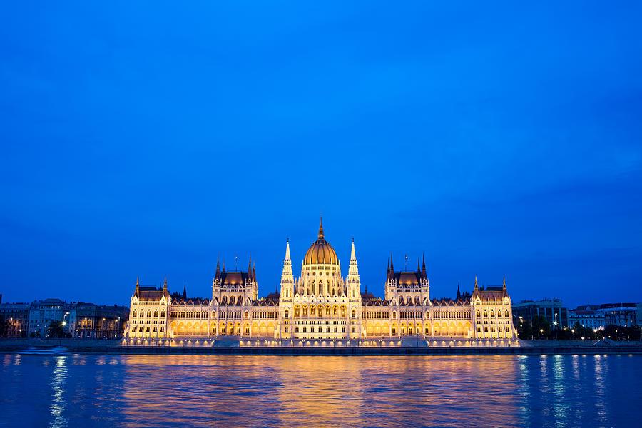 Budapest Photograph - Hungarian Parliament Building At Dusk by Artur Bogacki