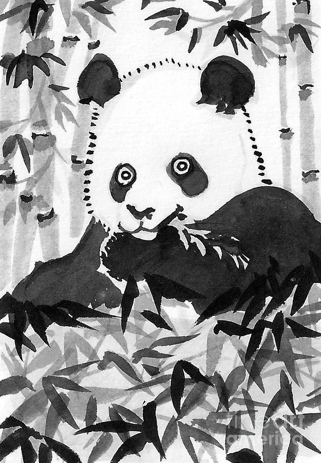 Hungry Panda Painting