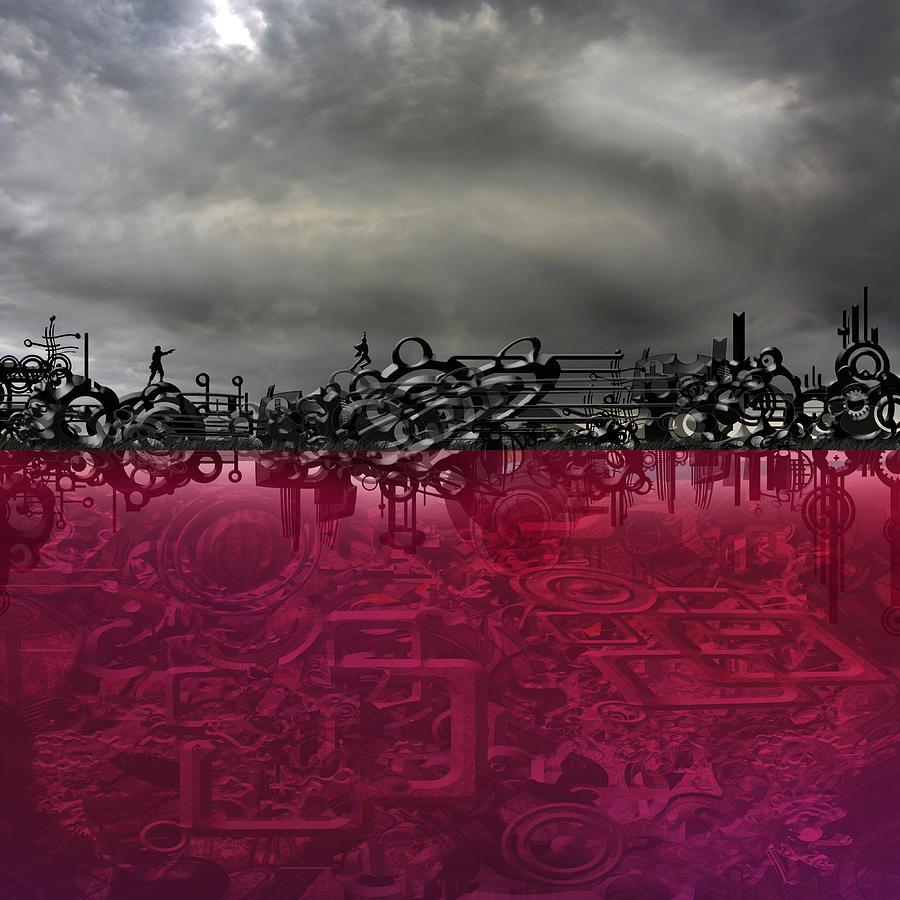Surreal Digital Art - Hunted by Andy Walsh