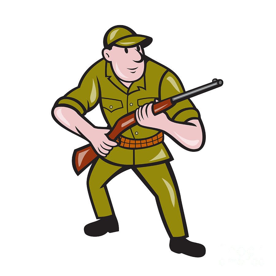 Cartoon Hunter Stalking stock vector | Getty Images
