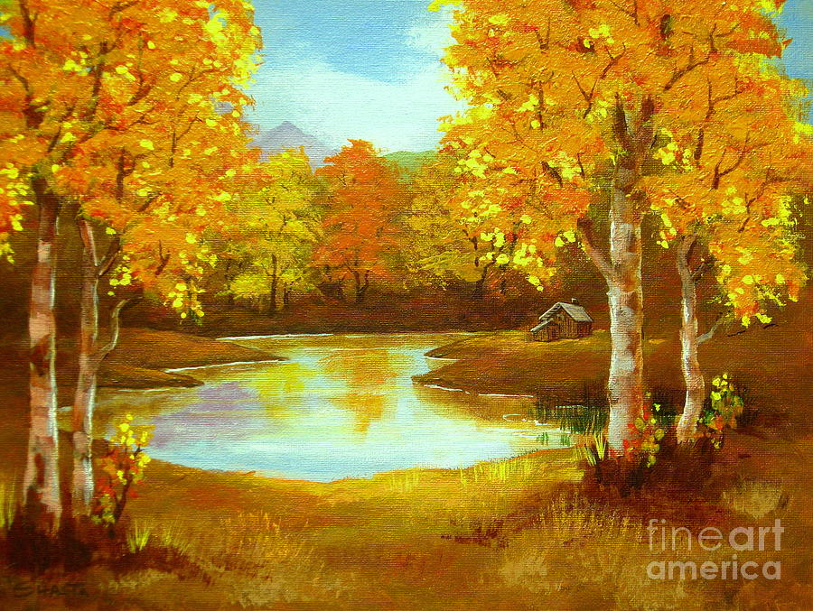 Landscape Painting - Hunters  Haven  by Shasta Eone