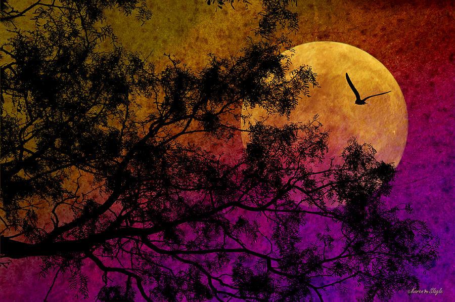 Moon Photograph - Hunters Moon by Karen Slagle