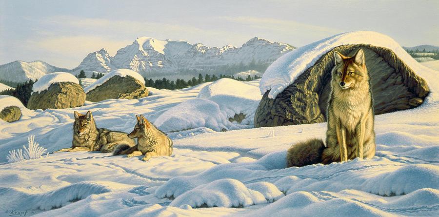 Wildlife Painting - Hunters Rest by Paul Krapf