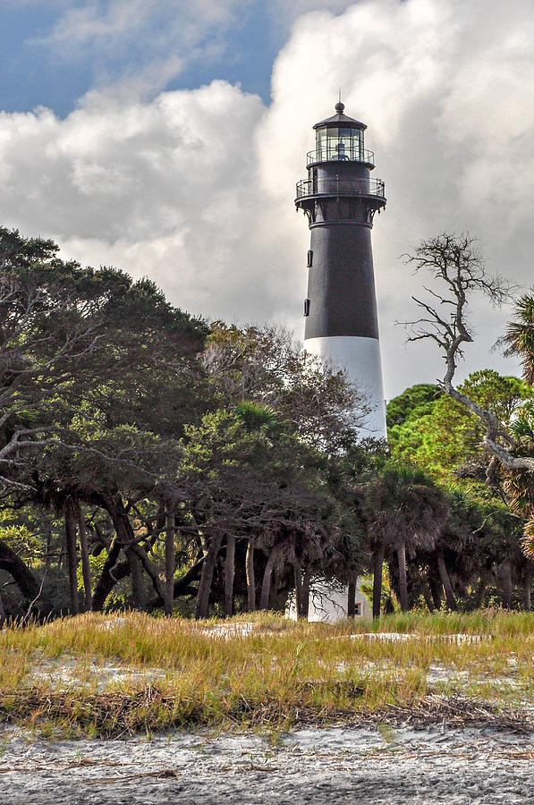 Lighthouse Photograph - Hunting Island Lighthouse by Donnie Smith